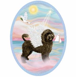Heavengly Meer - portugiesischer Wasser-Hund (Brau Freistehende Fotoskulptur
