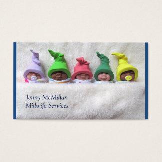 Hebamme-Dienstleistungen: Schlafende Lehm-Babys, Visitenkarte