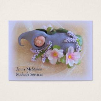 Hebamme-Dienstleistungen: Schlafendes Lehm-Baby, Jumbo-Visitenkarten