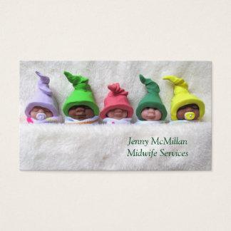 Hebamme, Doula Service: Lehm-Babys, flockige Decke Visitenkarten
