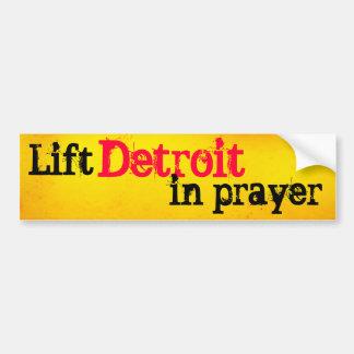 Heben Sie Detroit im Gebet an Autoaufkleber