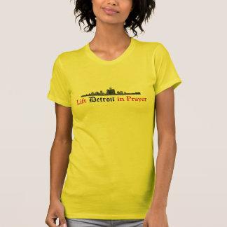 Heben Sie Detroit im Gebet an T-Shirt