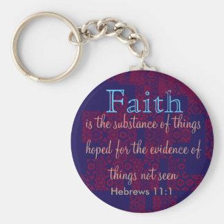 Hebräer-11:1 Keychain Schlüsselanhänger