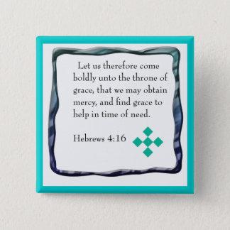 Hebräer-4:16knopf Quadratischer Button 5,1 Cm