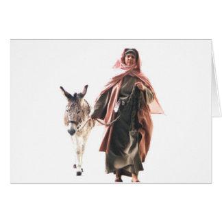Hebräische Frau mit Esel - der Jerusalem-Eintritt Karte