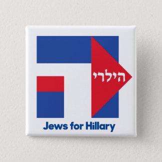 HEBRÄISCHE JUDEN für Präsidenten-Button 2016 Quadratischer Button 5,1 Cm