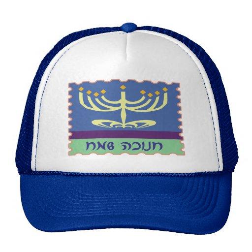 Hebräische Skript Menorah Hüte Trucker Mützen