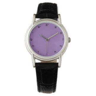 Hebräische Zahlen - klassische Uhr für Frauen