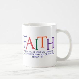 Hebräisches 11:1, Mehrfarben Kaffeetasse