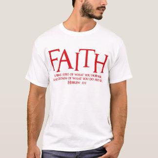 Hebräisches 11:1, rot T-Shirt