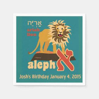 Hebräisches Alphabet, jüdische Party-Dekoration Servietten