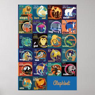 Hebräisches Alphabet-Plakat Poster