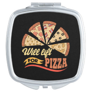 Hebt für Pizza - lustiges Neuheits-Training an Taschenspiegel