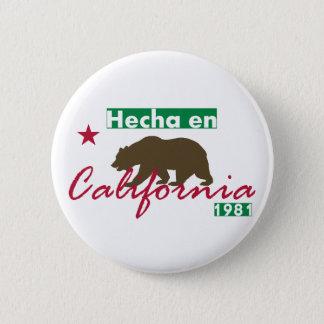 Hecha en Kalifornien Runder Button 5,1 Cm