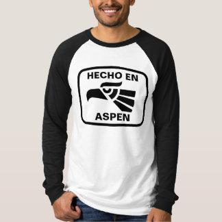 Hecho en Aspen personalizado Gewohnheit T-Shirt