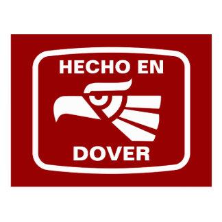 Hecho en Dover personalizado Gewohnheit Postkarte