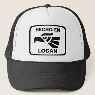 Hecho en Logan personalizado Gewohnheit Truckerkappe