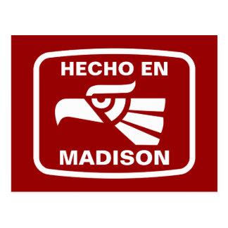 Hecho en Madison personalizado Gewohnheit Postkarte