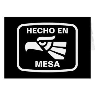 Hecho en MESA personalizado Gewohnheit Karte