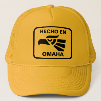 Hecho en Omaha personalizado Gewohnheit Truckerkappe