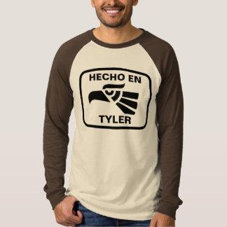 Hecho en Tyler personalizado Gewohnheit T-Shirt