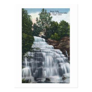 Hector fällt nahe Seneca See-Ansicht Postkarte