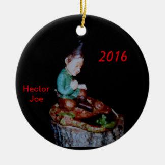 HECTOR JOE BLUEGRASS-TAL-WEIHNACHTSverzierung 2016 Rundes Keramik Ornament