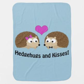 Hedgehugs und Kuss-Igels-Liebe Babydecke