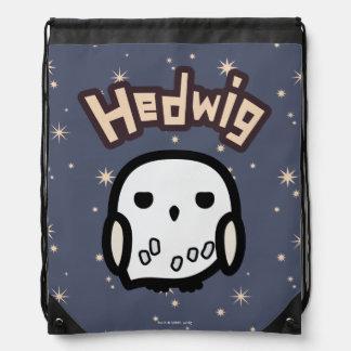 Hedwig-Cartoon-Charakter-Kunst Turnbeutel