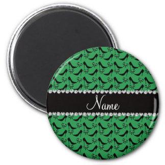 Heels-Bogendiamant des individuellen Namens grüner Runder Magnet 5,7 Cm