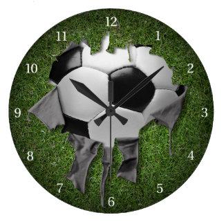 Heftige Fußball-Dunkelheits-Wanduhr Große Wanduhr