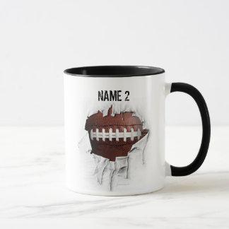 Heftige Fußball-personalisierte Tasse