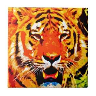 Heftige Leuchtorange-sibirischer Tiger Fliese