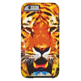 Heftige Leuchtorange-sibirischer Tiger Tough iPhone 6 Hülle