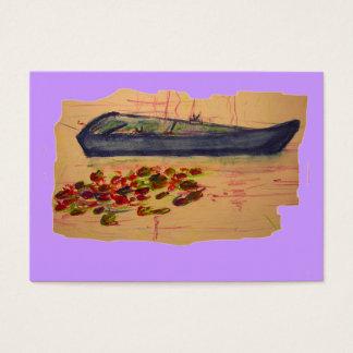 heftige Skizze der Boots- und Wasserlilien Visitenkarte