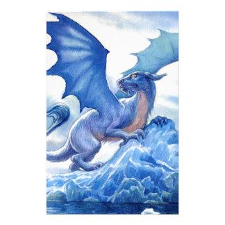 Heftiger blauer Drache Briefpapier