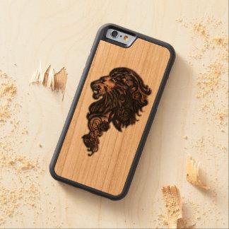Heftiger Löwe-Holz-Kasten Bumper iPhone 6 Hülle Kirsche