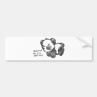 Heftiger Panda Autoaufkleber