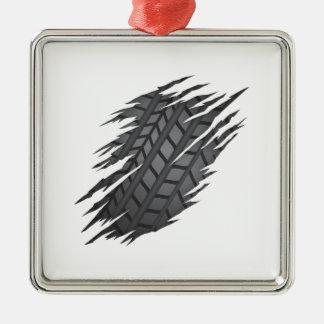 Heftiger Reifen Silbernes Ornament