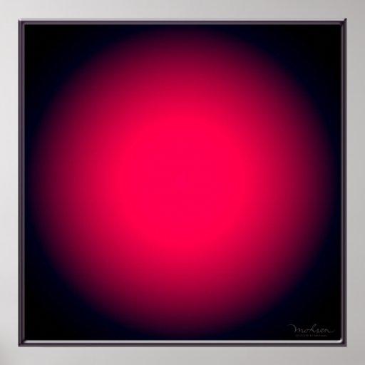 Heftiger roter Ball Plakatdruck