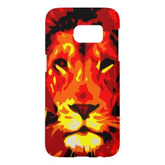 Heftiger roter Löwe