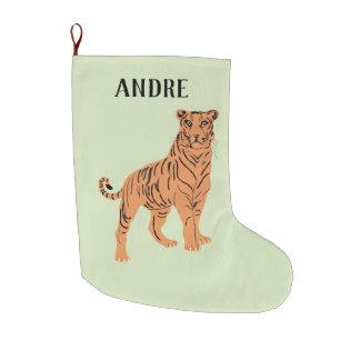 Heftiger Tiger personalisiert Großer Weihnachtsstrumpf