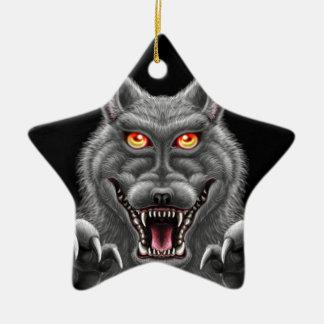 Heftiger Werewolf Keramik Stern-Ornament