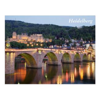 Heidelberg-Abend Postkarte