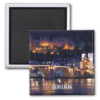 Heidelberg am Nachtmagneten Quadratischer Magnet