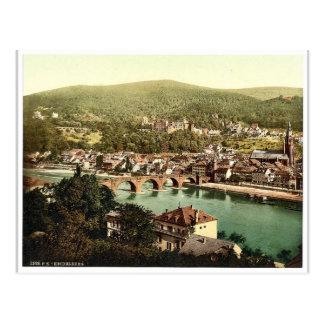 Heidelberg, gesehen vom Philosophenweg, Baden, G Postkarte