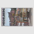 Heidelberg - Statue und Schloss Rechteckiger Aufkleber