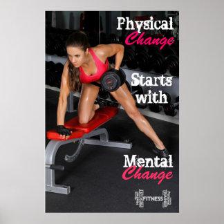 Heideprescott-Fitness u. persönliche Trainerdrucke Poster