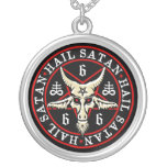 Heidnische Hagel Satan Baphomet Ziege im Pentagram Amuletten