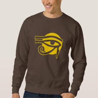 Heidnischer Horus auf Sun-Symbol Sweatshirt